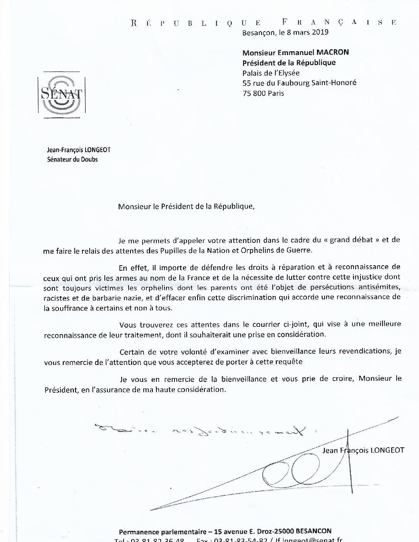 FNAPOG – Normandie : courrier de Geneviève Darrieussecq à Laurence Dumont