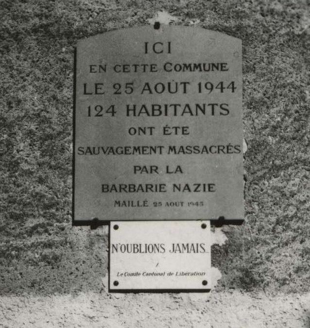 25 Août  1944     PARIS  libéré    mais MAILLÉ……..massacré