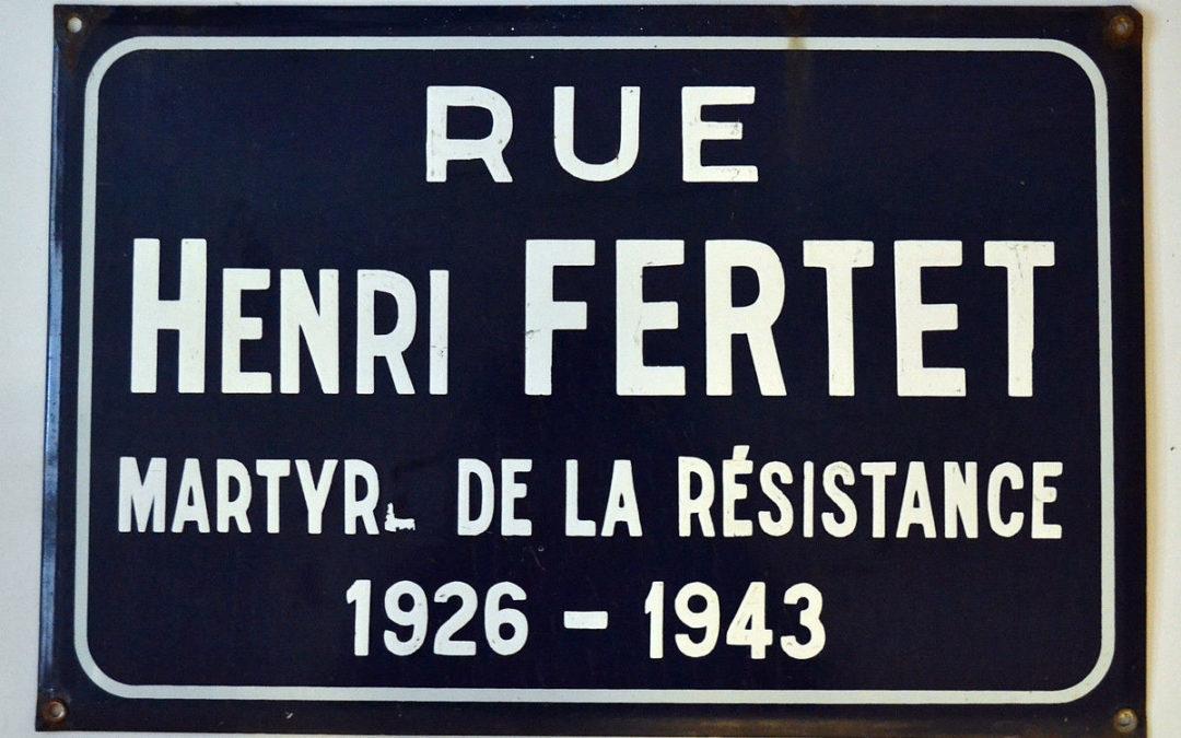 Henri FERTET  un jeune résistant, un très jeune combattant